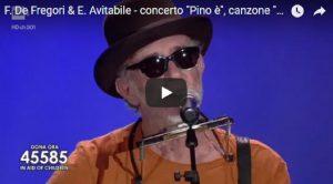 """YOUTUBE Pino è, De Gregori e Avitabile cantano """"Generale"""" durante il concerto per Pino Daniele"""