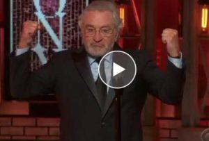 "YOUTUBE Robert De Niro: ""F*** Donald Trump"". Standing ovation"