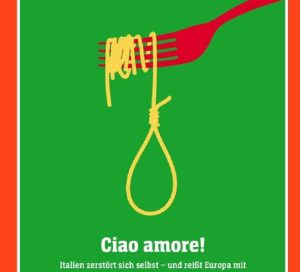 Der Spiegel e la copertina contro l'Italia: spaghetti a forma di cappio