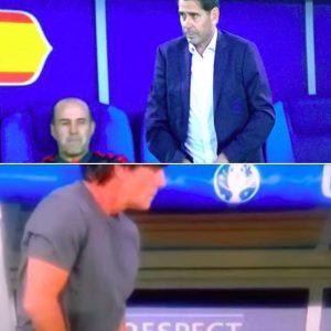 Hierro come Loew, la mano va nei pantaloni durante Spagna-Marocco
