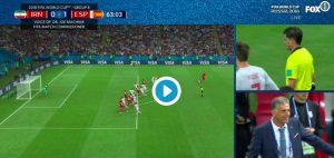 Ezatolahi video gol Iran-Spagna annullato dal VAR per fuorigioco