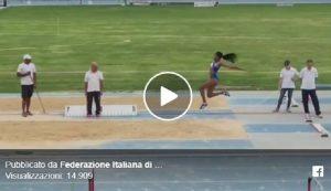 Larissa Iapichino, salto in lungo record a 6,38 VIDEO Meglio di mamma Fiona May