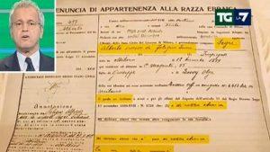 YOUTUBE Censimento rom, Mentana mostra in diretta tv la schedatura del papà di Liliana Segre