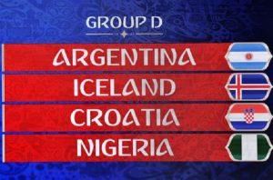Mondiali 2018, Girone D: squadre, classifica e calendario partite