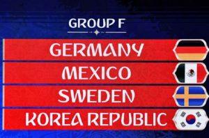 Mondiali 2018, Girone F: squadre, classifica e calendario partite