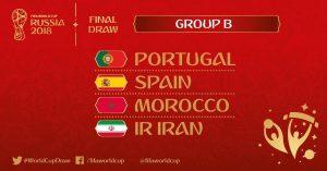 Mondiali 2018, Girone B: squadre, classifica e calendario partite