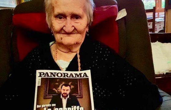 """Nonna Armida, 102 anni, fa impazzire lo """"sceriffo"""" Salvini"""