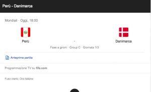 Perù-Danimarca 0-0, diretta e highlights della partita Mondiali 2018