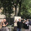 Russell Crowe con la sciarpa della Roma
