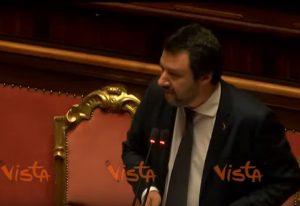 Salvini parla al Senato