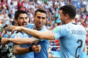 Uruguay-Arabia Saudita 1-0 highlights-pagelle, Suarez video gol decisivo