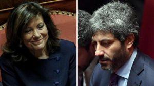 """Taglio vitalizi: Casellati frena, M5s all'attacco. Ma Fico minimizza: """"Nessuno scontro"""""""