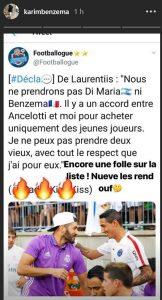 """De Laurentiis si scusa con Benzema: """"Mi dispiace che Benzema si sia arrabbiato, non volevo mancargli di rispetto"""""""