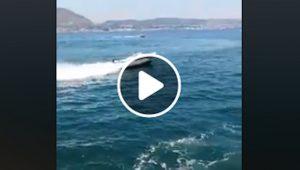 Napoli, comandante cade in mare: gommone senza guida si schianta contro la banchina e va a fuoco