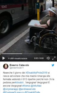 Bus pedana invalida