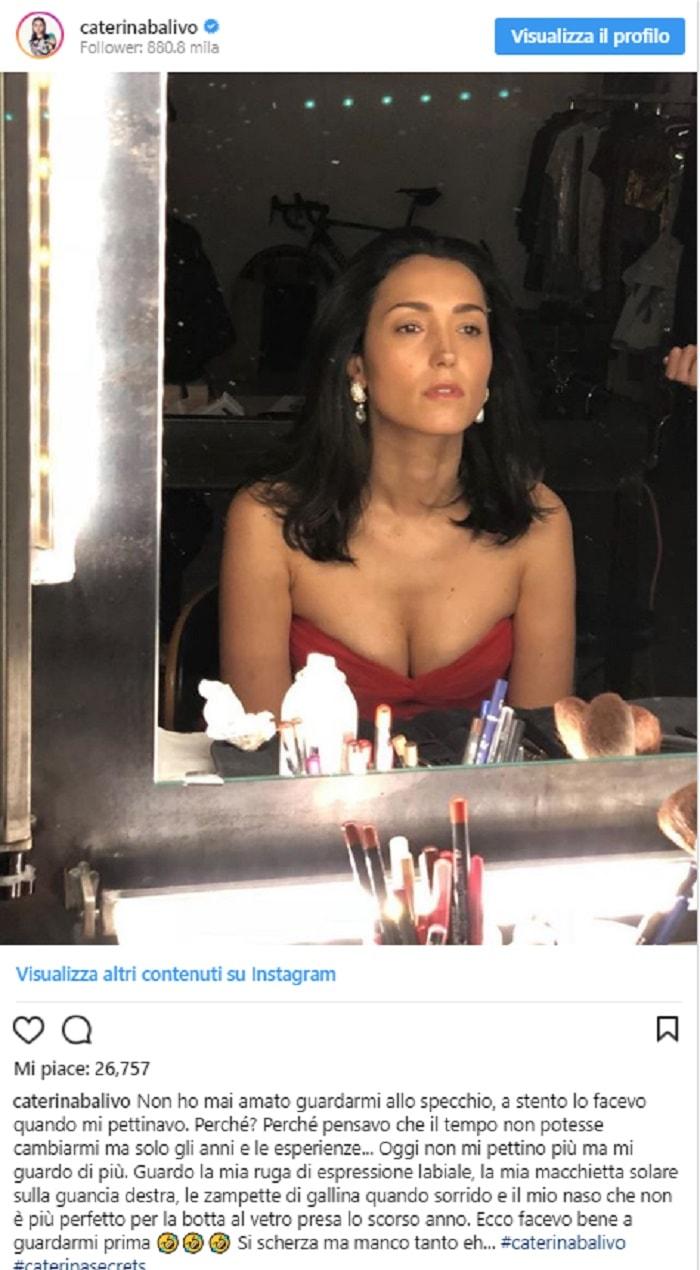 Caterina Balivo allo specchio