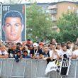 I tifosi della Juventus aspettano l'arrivo di Cristiano Ronaldo