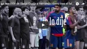 """YOUTUBE Diego Costa se la prende con Hierro: """"Te l'avevo detto di non far tirare il rigore a Koke"""""""