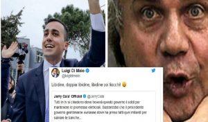 """Jerry Calà apprezza il governo e Di Maio lo cita: """"Libidine, doppia libidine, libidine coi fiocchi"""""""