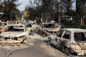 Incendi in Grecia, Mati come Pompei (foto Ansa)