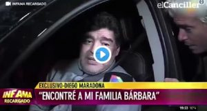 Maradona ubriaco cerca di rispondere alle domande del giornalista VIDEO