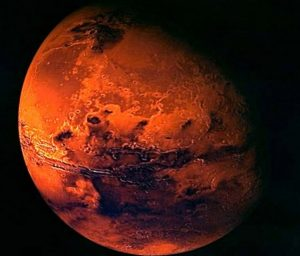 Marte, scoperto un lago di acqua salata sotto i ghiacci del Polo Sud (foto Ansa)