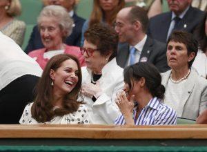 Meghan Markle e Kate Middleton insieme a Wimbledon FOTO