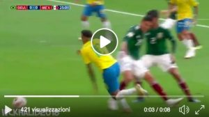 VIDEO Neymar numero incredibile in Brasile-Messico: il dribbling è ubriacante