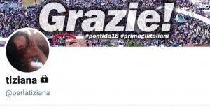Salvini Perla Tiziana fan blocca Twitter