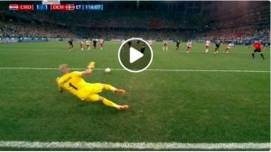 Schmeichel video rigore parato a Modric in Croazia-Danimarca