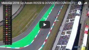 YOUTUBE Dovizioso-Valentino Rossi, sorpasso e contatto nel finale
