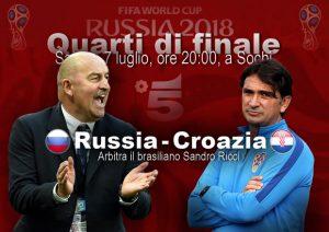 Russia-Croazia streaming e diretta tv, dove vederla (Mondiali 2018 quarti)