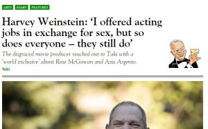 """Weinstein: """"Ho offerto lavoro in cambio di sesso"""". Poi smentisce"""