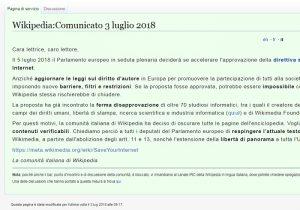 Wikipedia, perché non funziona? La protesta contro la direttiva europea sul copyright
