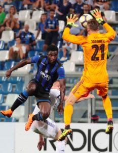 Atalanta-Copenaghen 0-0 highlights e pagelle, Barrow gol annullato