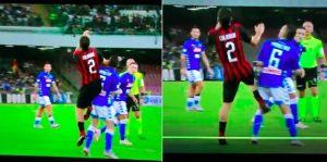Napoli-Milan, moviola. Calabria su Mario Rui: niente rigore per l'arbitro