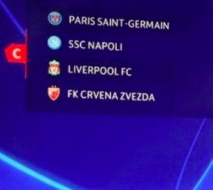 Champions League 2018-2019, calendario partite Napoli: orario e date
