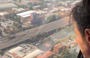 Giuseppe Conte in elicottero
