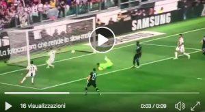 Cristiano Ronaldo errore a porta vuota in Juventus-Lazio ma segna Mandzukic