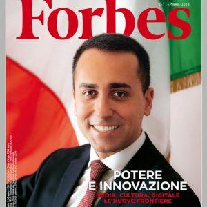 Di Maio sulla copertina di Forbes, fotografato da Oliviero Toscani. Prima che il Ponte...