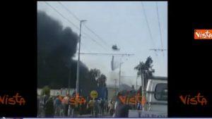 Borgo Panigale, video esplosione tir