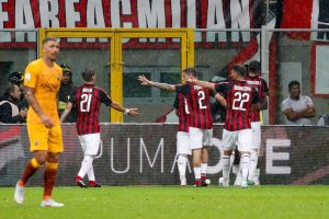 Milan-Roma 2-1 highlights e pagelle, Cutrone gol decisivo al 95', assist di Higuain