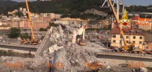 Ponte Morandi, proseguono le operazioni di bonifica e ricerca