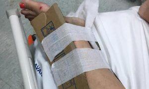 Ospedale Reggio Calabria ingessa col cartone! Ma non era vero. Era una fake...ufficiale