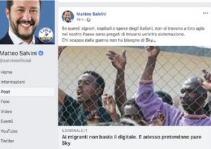 Matteo Salvini post Facebook