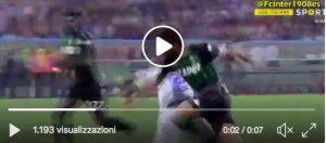 Sassuolo-Inter, video moviola: Miranda-Di Francesco rigore giusto. Fallo su Asamoah?