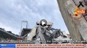 "Saverio Ferrari, ingegnere genovese: ""Ponte Morandi, palificazione senza materiale antisismico"" VIDEO"