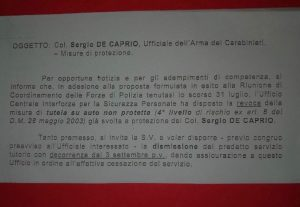 """Capitano Ultimo, tolta la scorta. Rita Dalla Chiesa a Salvini: """"A Saviano sì e a lui no?"""""""