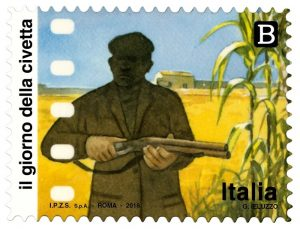 Il giorno della civetta francobollo Poste Italiane