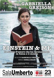 Einstein & Me di Gabriella Greison in anteprima al Sala Umberto